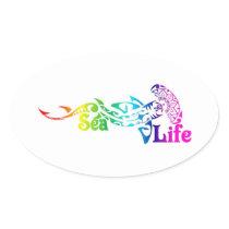 Sea Life Hammerhead Shark Oval Sticker