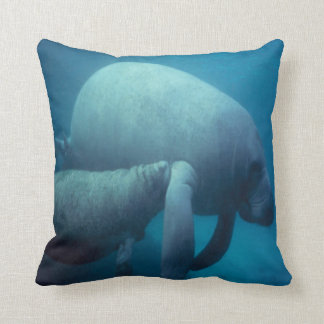 SEA LIFE- manatee-mother and calf Pillows
