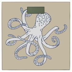 Sea Life Nautical Octopus Bathroom Scale at Zazzle