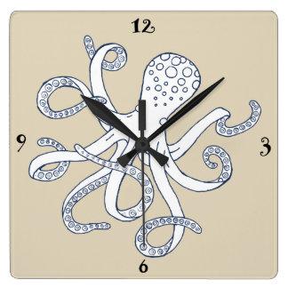 Sea Life Octopus Nautical Wall Clock