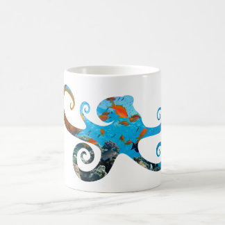 Sea Life Octopus Silhouette, Sea Animal Coffee Mug