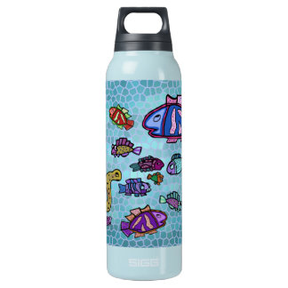 Sea Life Pattern Insulated Water Bottle