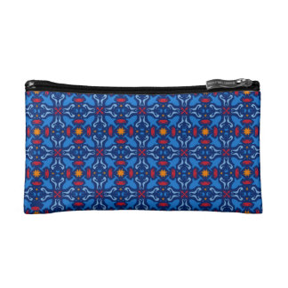 Sea life pattern makeup bag