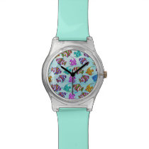 Sea Life Pattern Wristwatch
