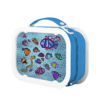 Sea Life Personalized Name Lunch Boxes