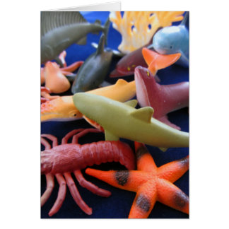 Sea Life Plastic Animals Card