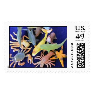 Sea Life Plastic Animals Postage
