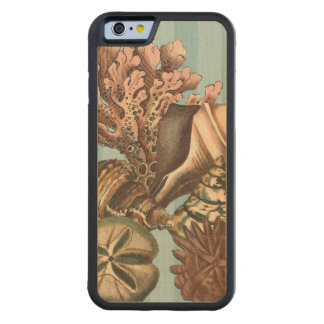 Sea Life Silhouette Carved Maple iPhone 6 Bumper Case