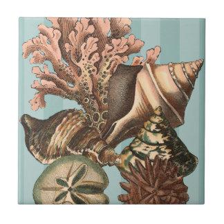 Sea Life Silhouette Tile