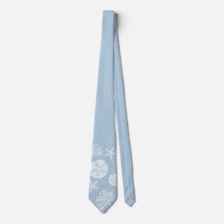 Sea Life Silhouettes (Lt Ocean Blue) Tie