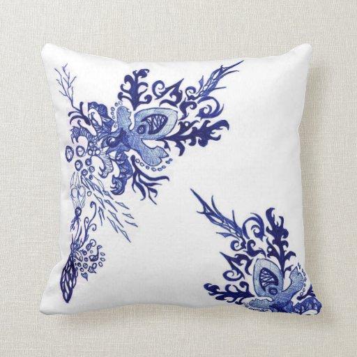 Sea Life Tattoo Throw Pillows Zazzle