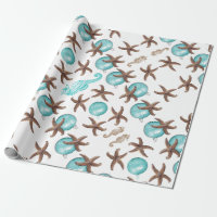 Sea Life Tropical Pattern Christmas Gift Wrap