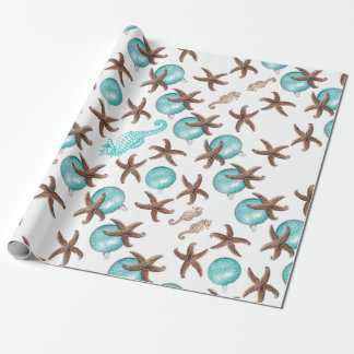 Sea Life Tropical Pattern Christmas Gift Wrap