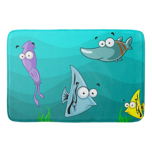 Sea Life Under the Sea Personalized Bath Mat