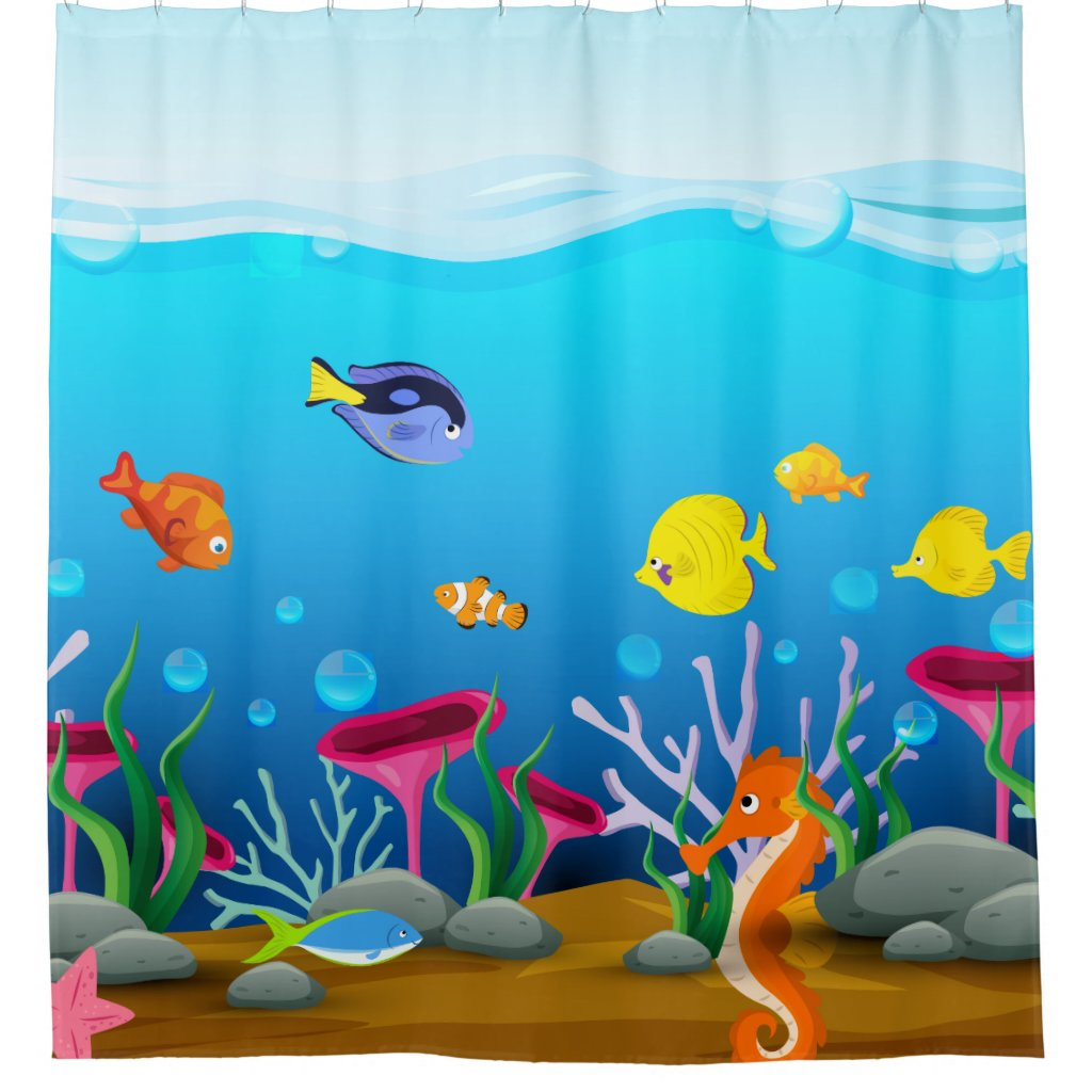 Sea Life Under The Sea Shower Curtain