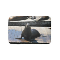 Sea Lion at Pier 39 in San Francisco Bathroom Mat