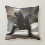Sea Lion Doing Trick at Kansas City Zoo Pillow