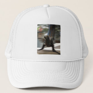 Sea Lion Doing Trick at Kansas City Zoo Trucker Hat