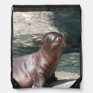 Sea Lion Drawstring Bag