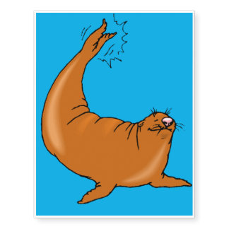 Sea lion for kids 6 temporary tattoos