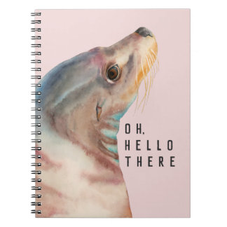 Sea Lion  Illustration | Add Your Funny Text Notebook