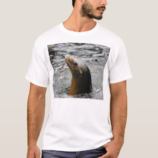 Sea Lion In The Water - Animal Photography T-Shirt