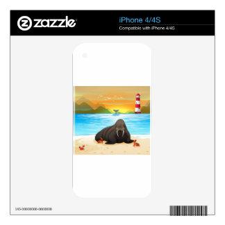 Sea lion iPhone 4 skin