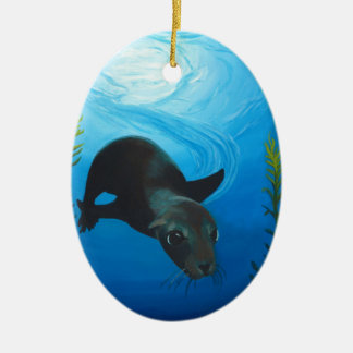Sea Lion jpg Christmas Tree Ornaments