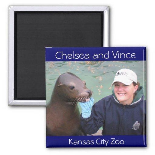 Sea Lion Kansas City Zoo Fridge Magnet