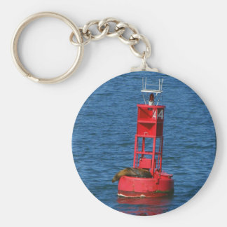 Sea Lion On Buoy Keychain