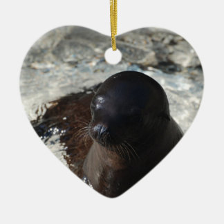 Sea Lion Pup Christmas Ornaments