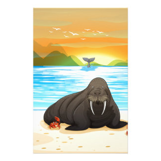 Sea lion stationery