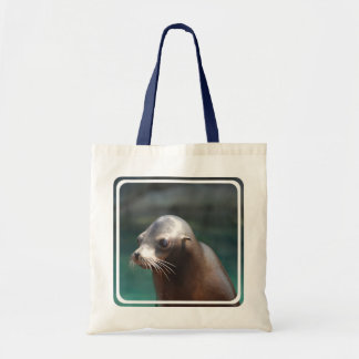 Sea Lion with a Cute Face Budget Tote Bag