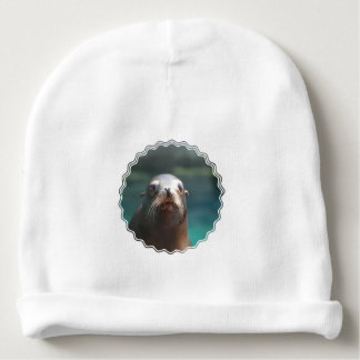 Sea Lion with Whiskers Baby Beanie