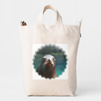 Sea Lion with Whiskers Duck Bag