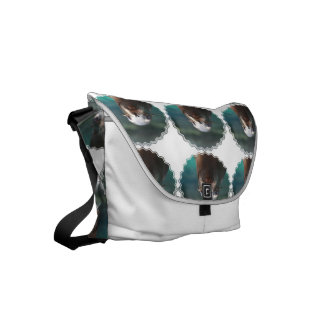 Sea Lion with Whiskers Small Messenger Bag