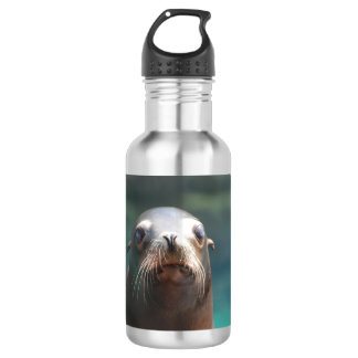 Sea Lion with Whiskers Stainless Steel Water Bottle