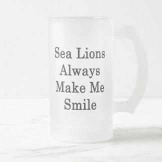 Sea Lions Always Make Me Smile Coffee Mugs