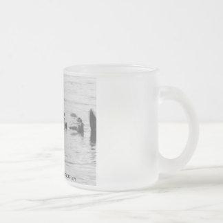 Sea Lions Drift Frosted Glass Coffee Mug