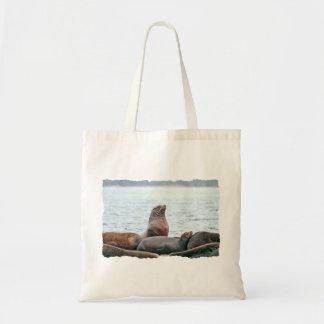 Sea Lions Photo Canvas Bag