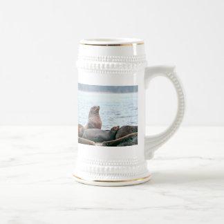 Sea Lions Photo Beer Stein
