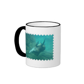 Sea Lions Stamp Edge Mug