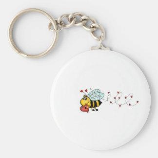 Sea los míos - abeja linda que lleva a cabo un cor llavero