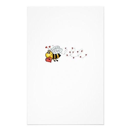 Sea los míos - abeja linda que lleva a cabo un cor papeleria personalizada