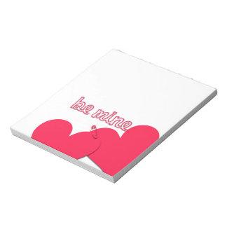 Sea los míos la libreta de dos de los corazones de bloc de notas