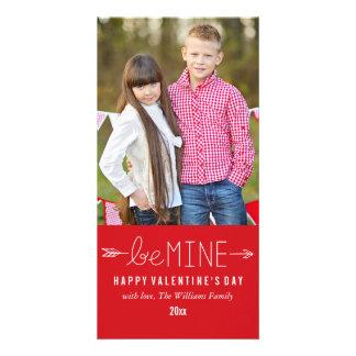 Sea los míos las tarjetas de la foto del el día de tarjetas personales