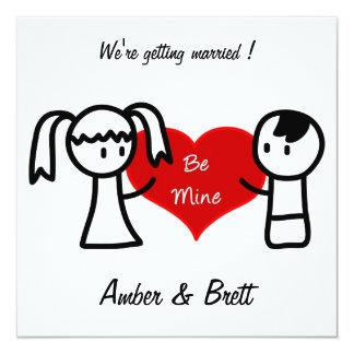 """""""Sea los míos"""" tarjeta de la invitación del boda"""