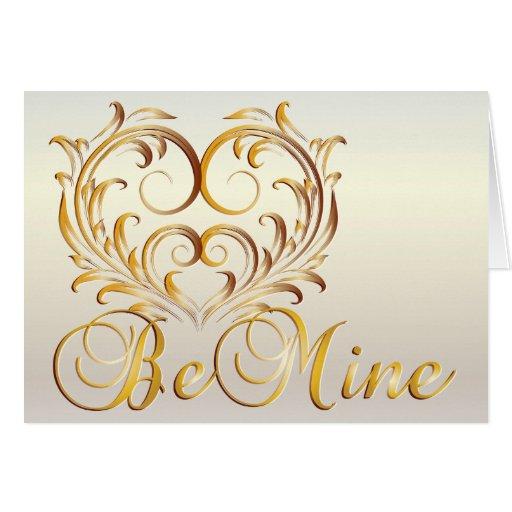 ¡Sea los míos! Tarjeta de la tarjeta del día de Sa