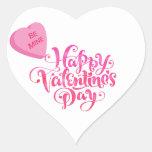 Sea los míos - tarjeta del día de San Valentín Pegatina Corazon Personalizadas