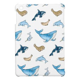 Sea mammals pattern cover for the iPad mini